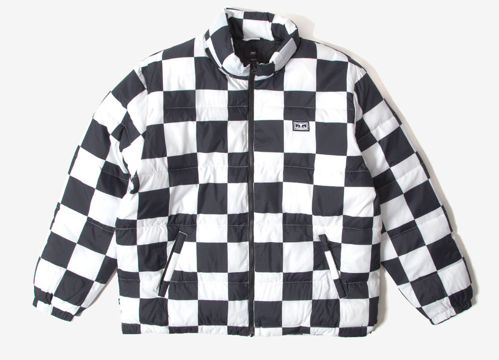 Obey Bouncer Puffer Jacket - Checker