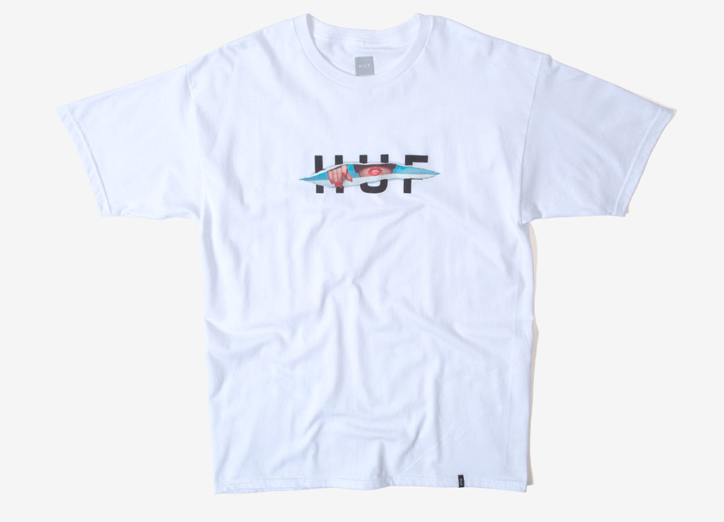HUF OG Ripped T Shirt - White