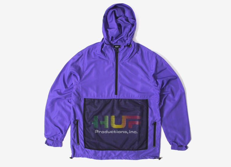 HUF Productions Inc Anorak Jacket - Ultra Violet