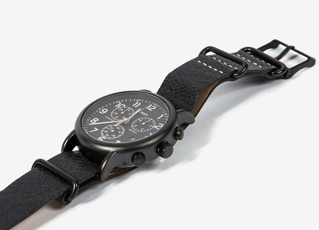 Timex Round Black IP Case Watch - Black