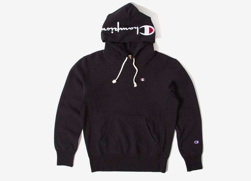 Champion Reverse Weave Embroidered Pullover Hoody - Black