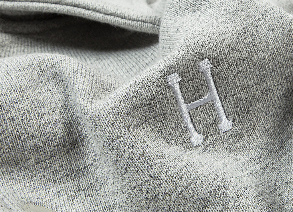 HUF Classic H Fleece Coach Jacket - Grey Heather