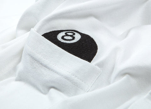 Stussy 8 Ball Pocket T Shirt - White