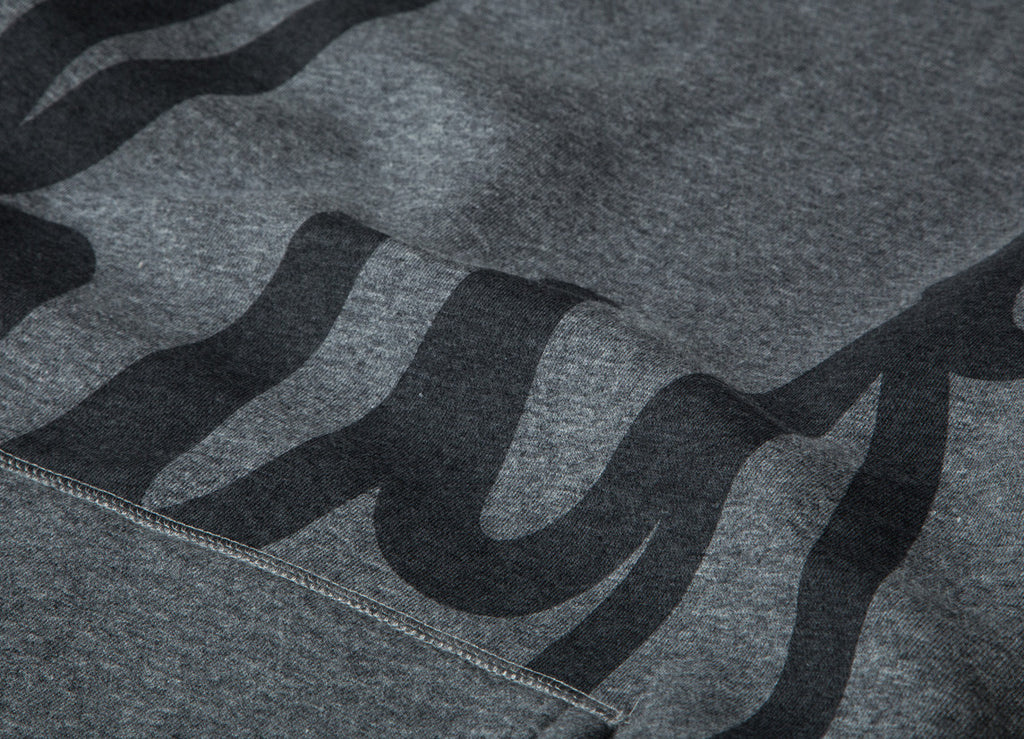 HUF Big Script Crewneck Sweatshirt - Gunmetal Heather