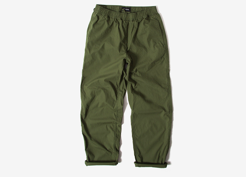 Brixton Steady Elastic Waistband Pants - Leaf