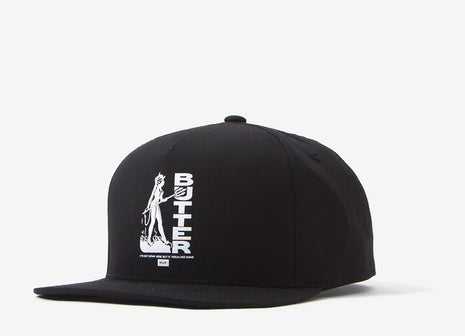 HUF x Butter Goods Feels Like Home Snapback Cap - Black
