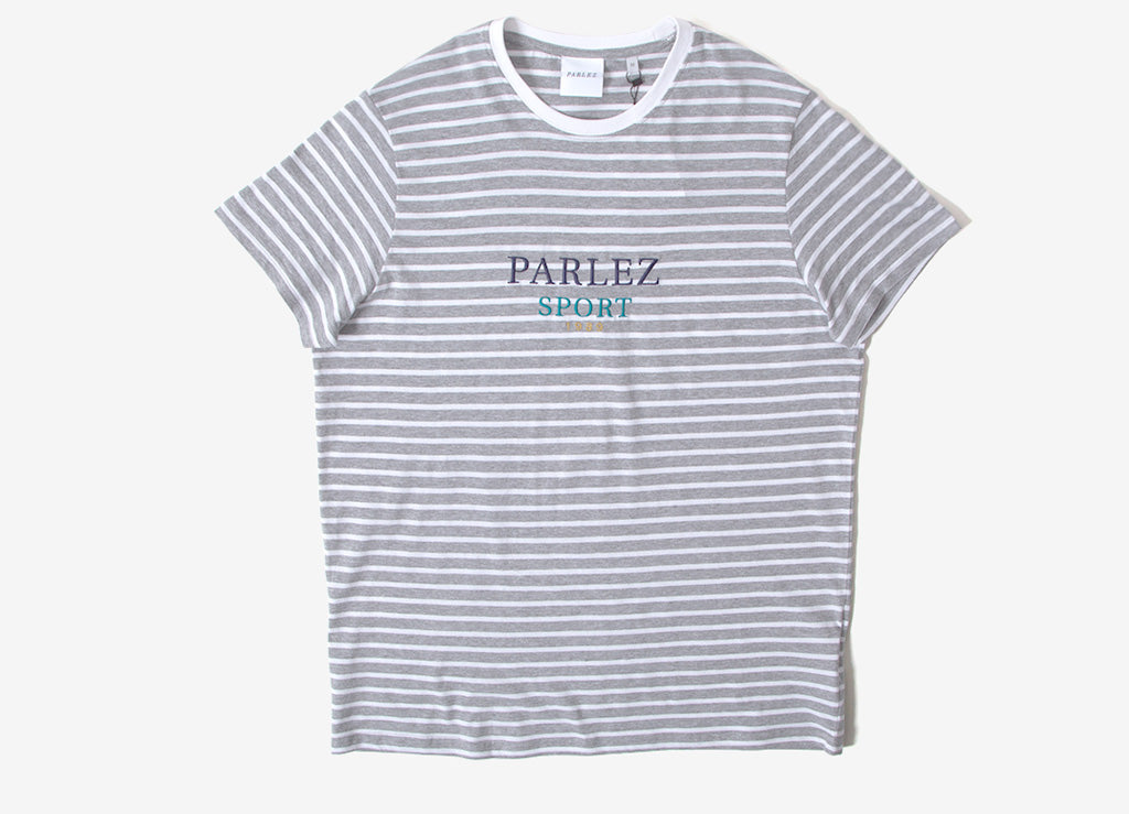 Parlez Colburn Stripe T Shirt - Heather Grey