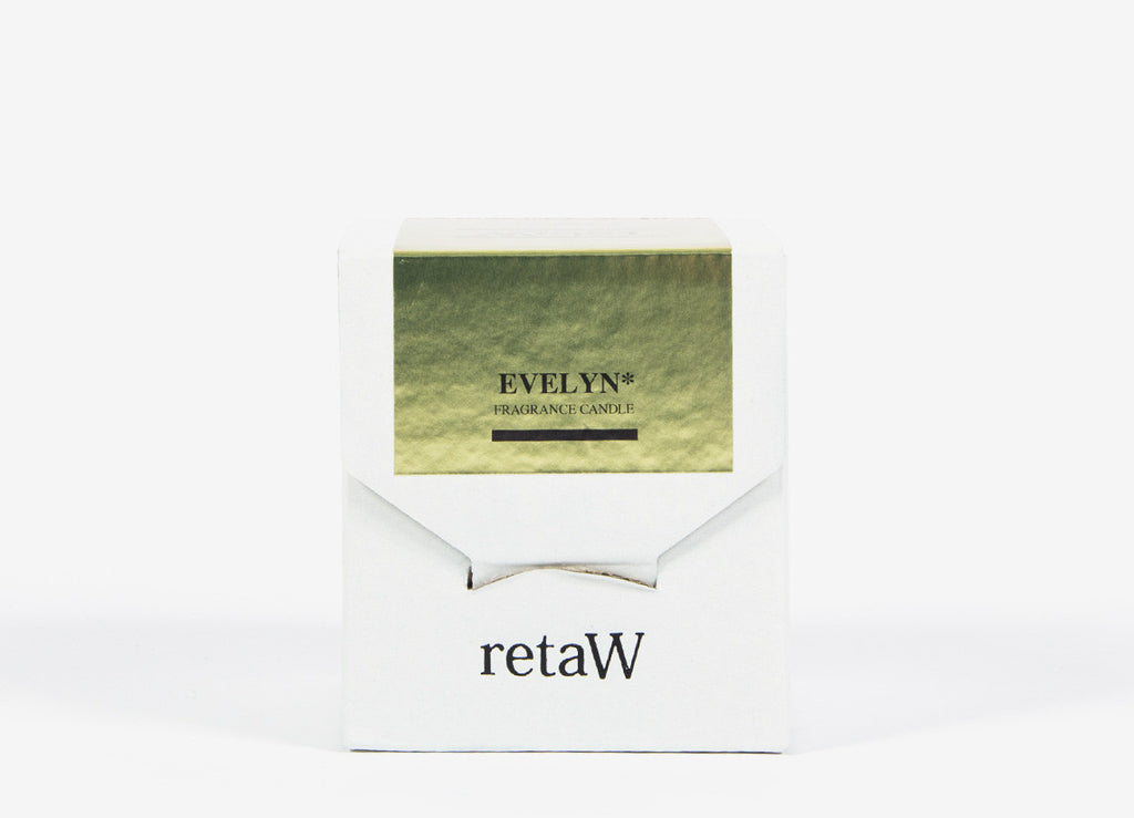 retaW Fragrance Candle / Metallic Series - Evelyn*