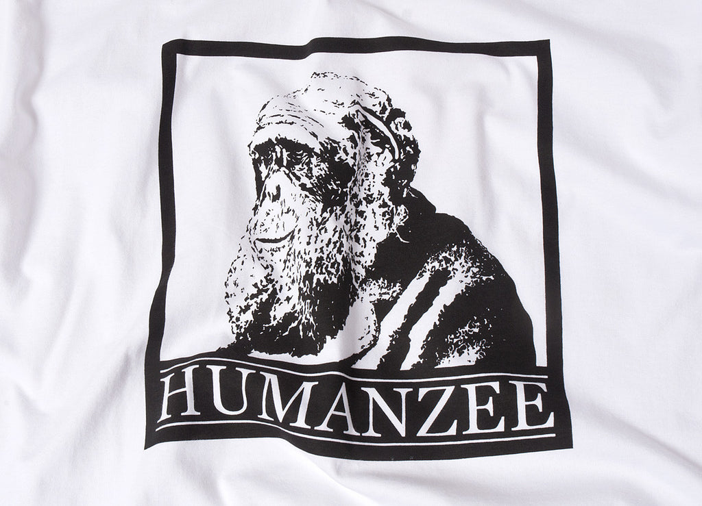 Chimp Humanzee T Shirt - White