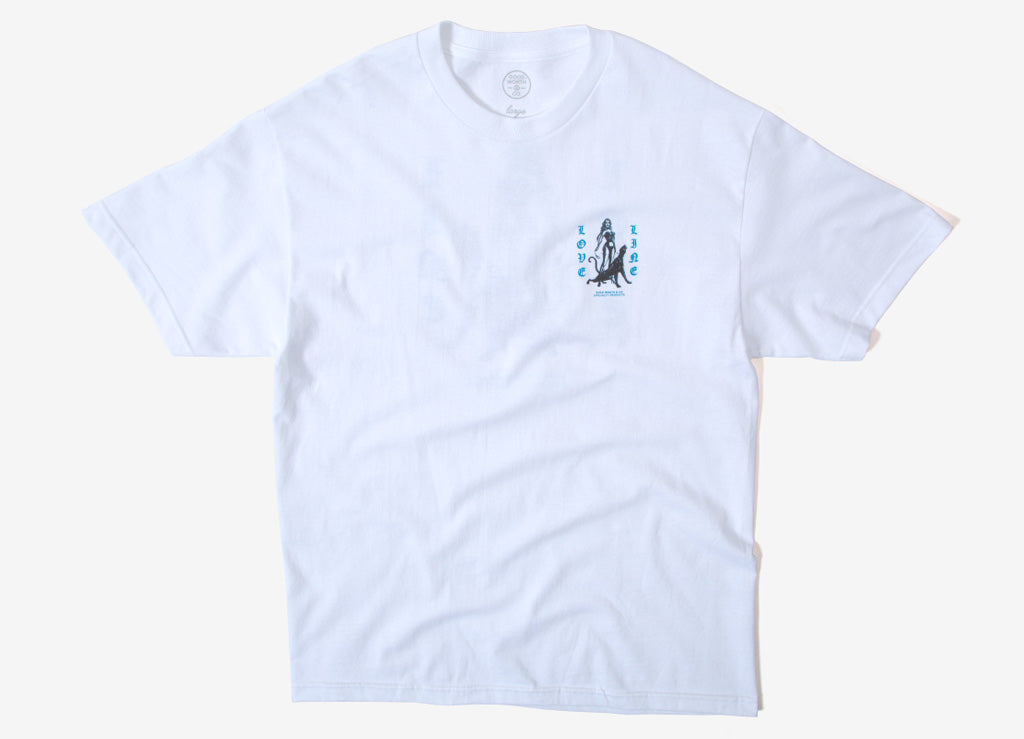 Good Worth & Co Love Line T Shirt - White