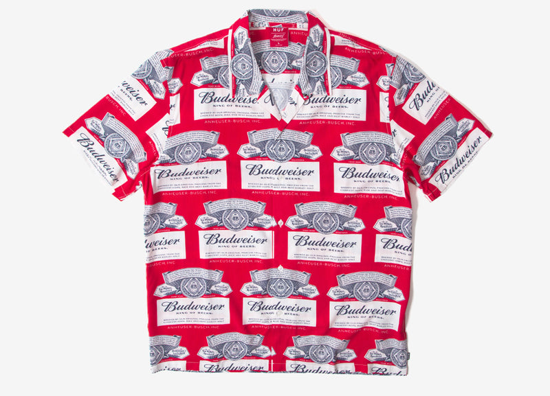 HUF x Budweiser Label Shirt - Red