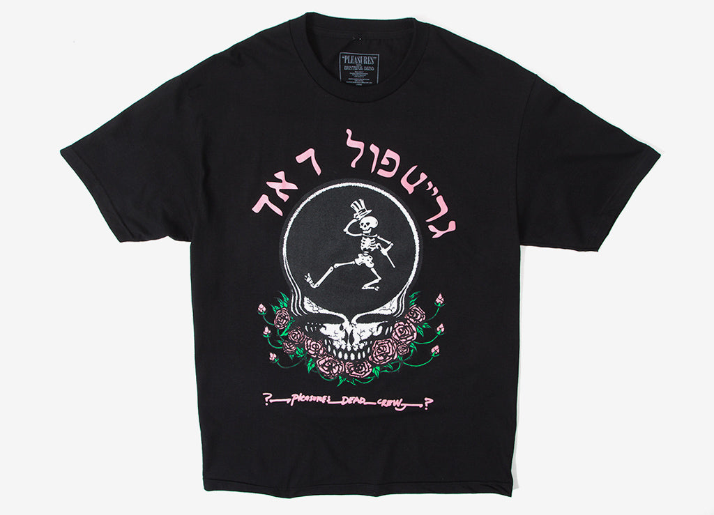 Pleasures Grateful Dead Skull & Rose T Shirt - Black