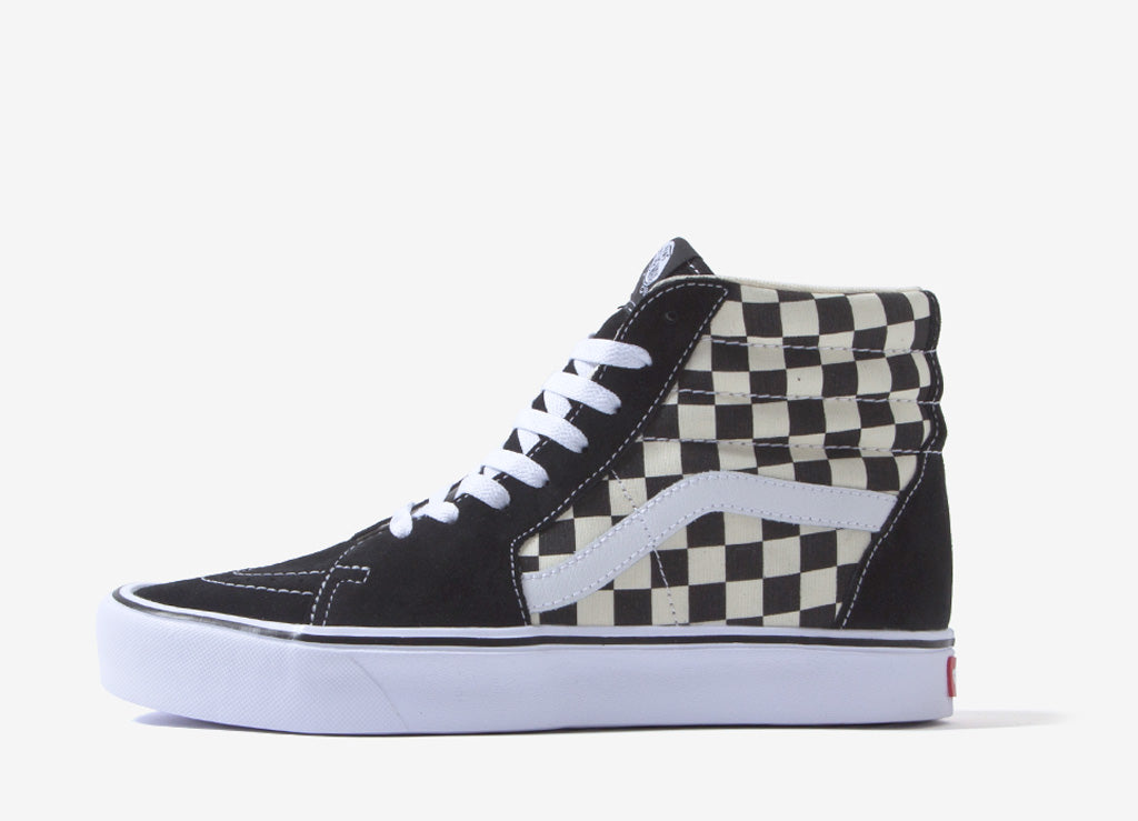 Vans Sk8-Hi Checkerboard Lite Shoes - Black/White