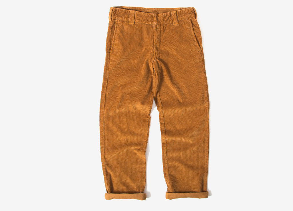 Dickies 873 Cord Slim Straight Work Pant Trousers - Brown Duck