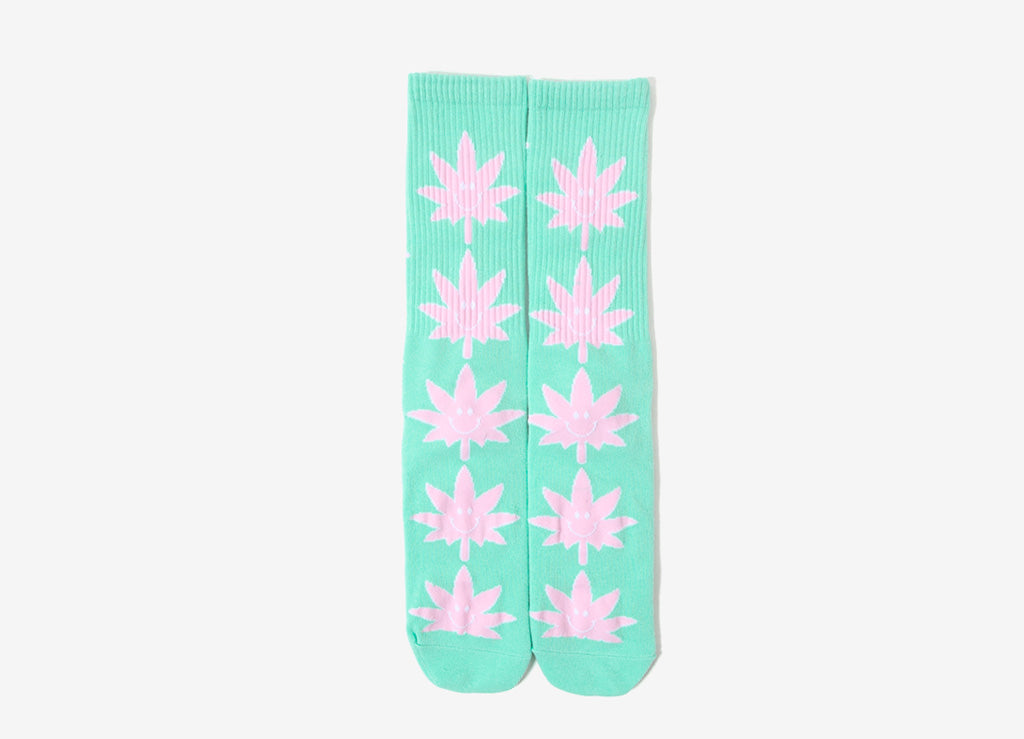 HUF 420 Plantlife Mr Nice Guy Socks - White