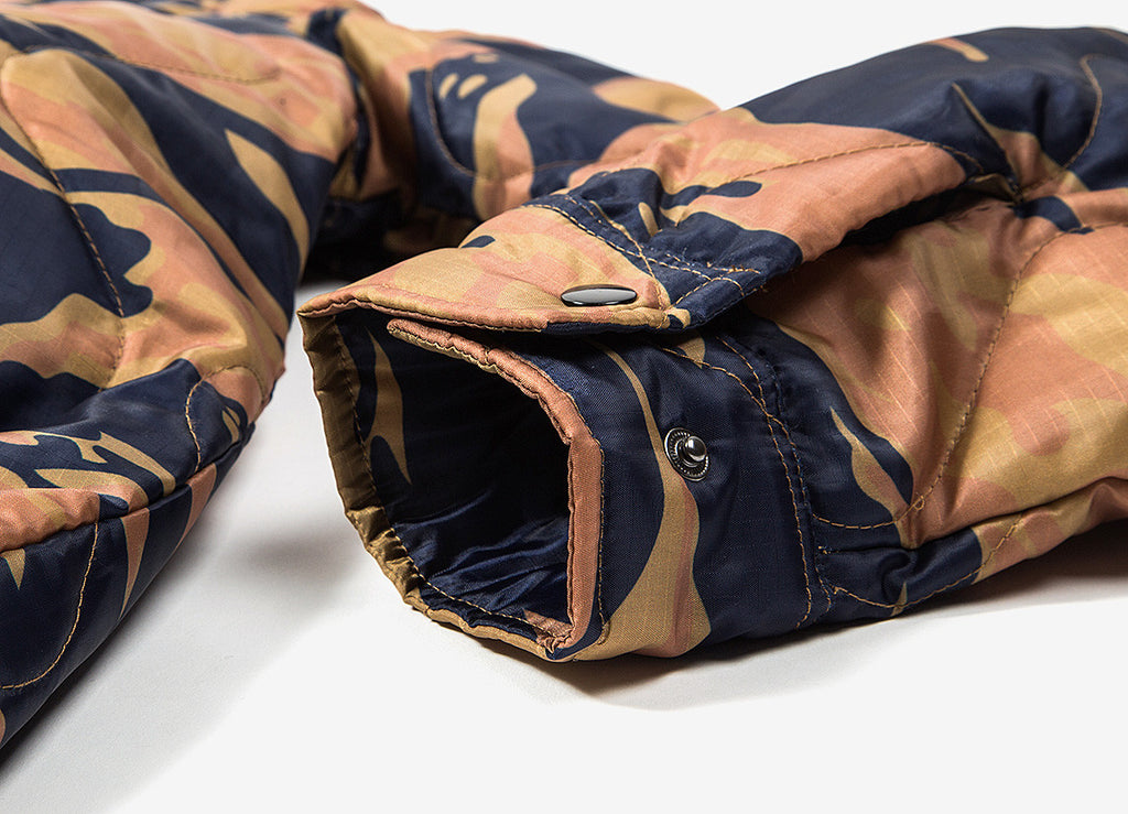 HUF Quilted Coach Jacket - Golden Tiger Camo