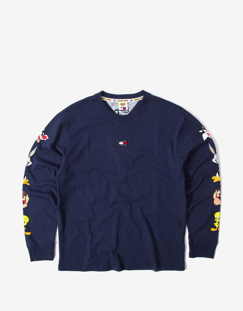 Tommy Jeans x Looney Tunes Long Sleeve T Shirt - Navy