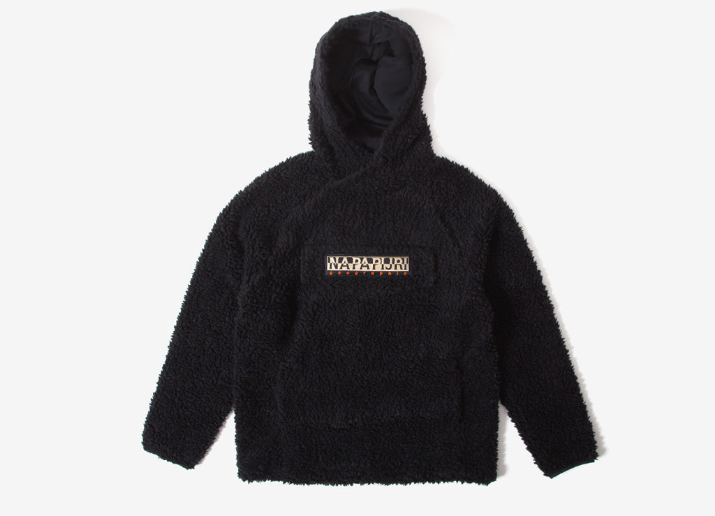 Napapijri Telve Pullover Curly Fleece Hoody - Black