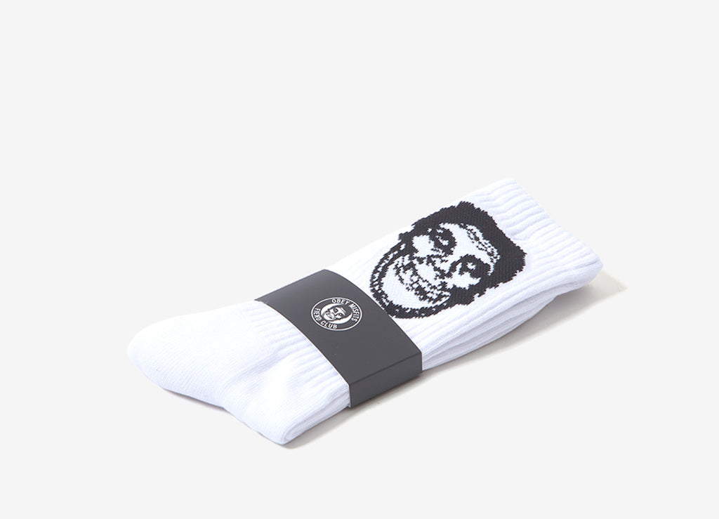 Obey x The Misfits Socks - White