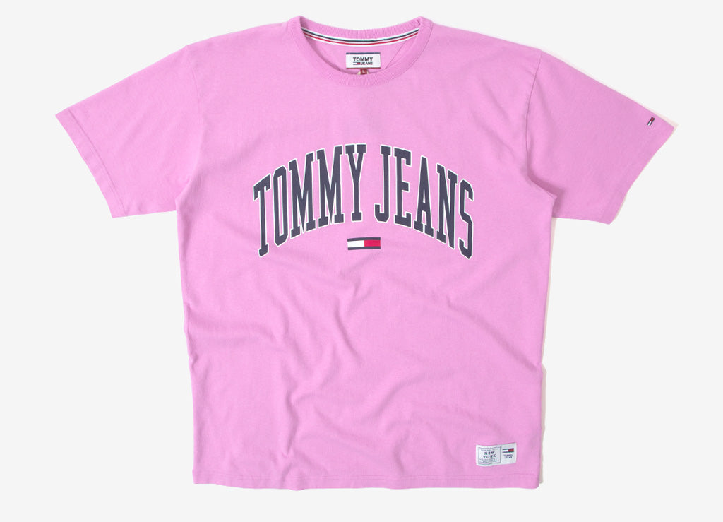 Tommy Jeans Collegiate T Shirt - Lilac Chiffon