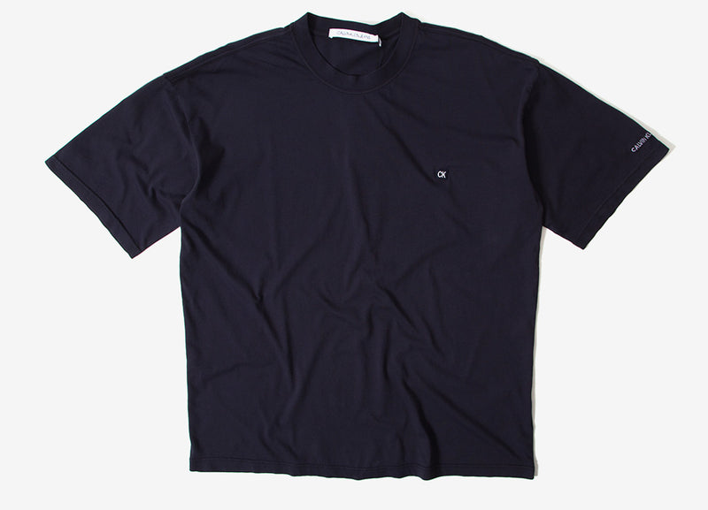Calvin Klein Relaxed CK Badge T-Shirt - Night Sky