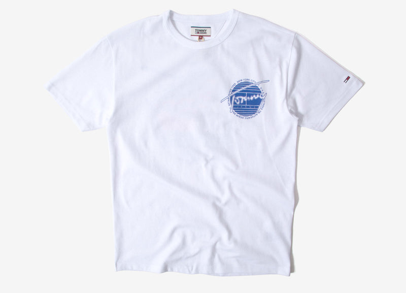 Tommy Jeans Back Graphic T Shirt - Classic White