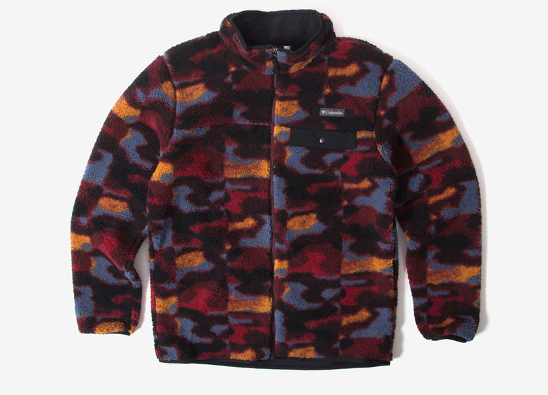 Columbia Mountain Side Heavyweight Fleece Jacket - Elderberry Camo