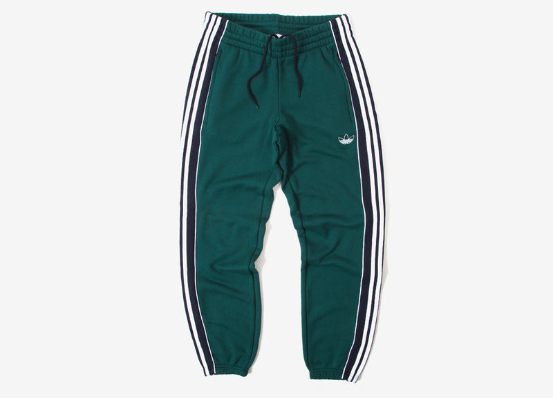 adidas Originals 3 Stripe Panel Sweatpants - Green/Ink