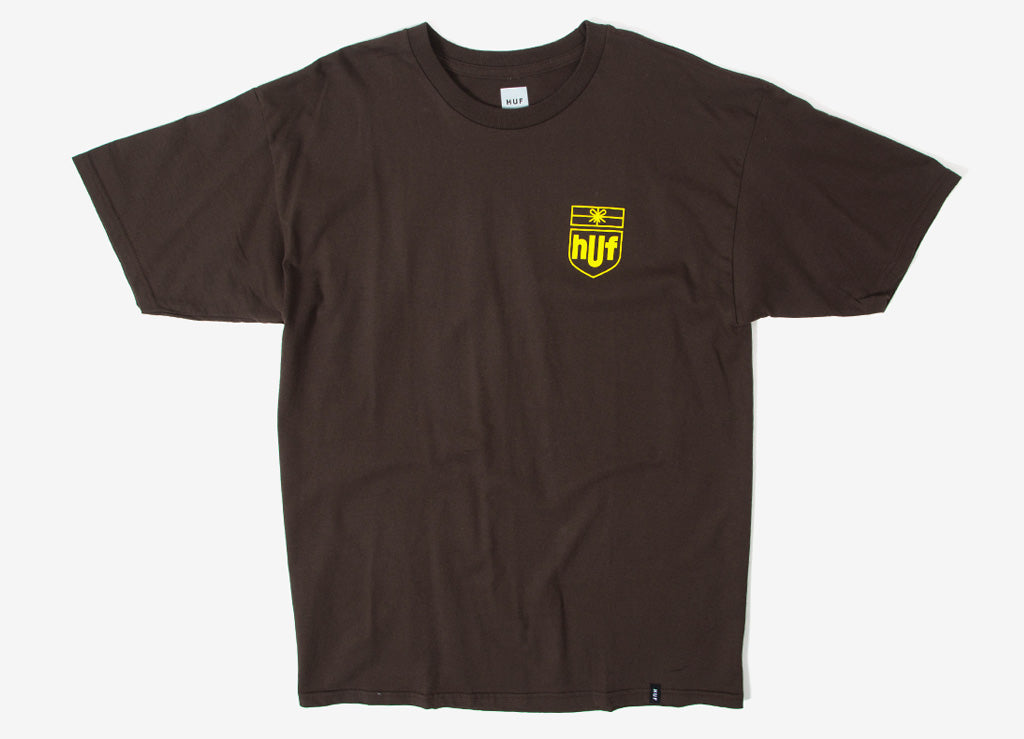 HUF Delivery T Shirt - Brown