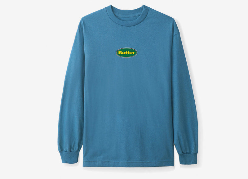 Butter Goods Badge Logo Long Sleeve T Shirt - Slate