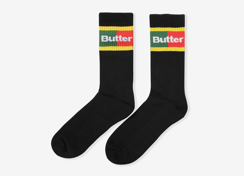 Butter Goods Court Socks - Black