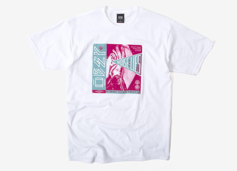 Obey Lie And Noise T Shirt - White