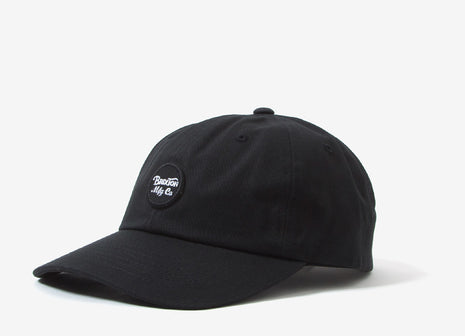 Brixton Wheeler 6 Panel Cap - Black