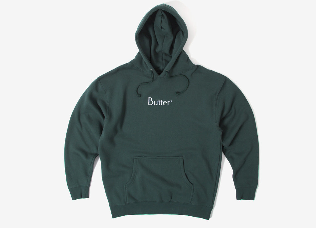 Butter Goods Embroidered Classic Logo Hoody - Forest