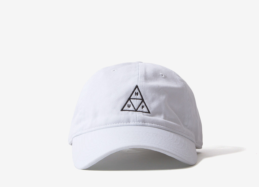 HUF Essentials Triple Triangle 6 Panel Cap - White