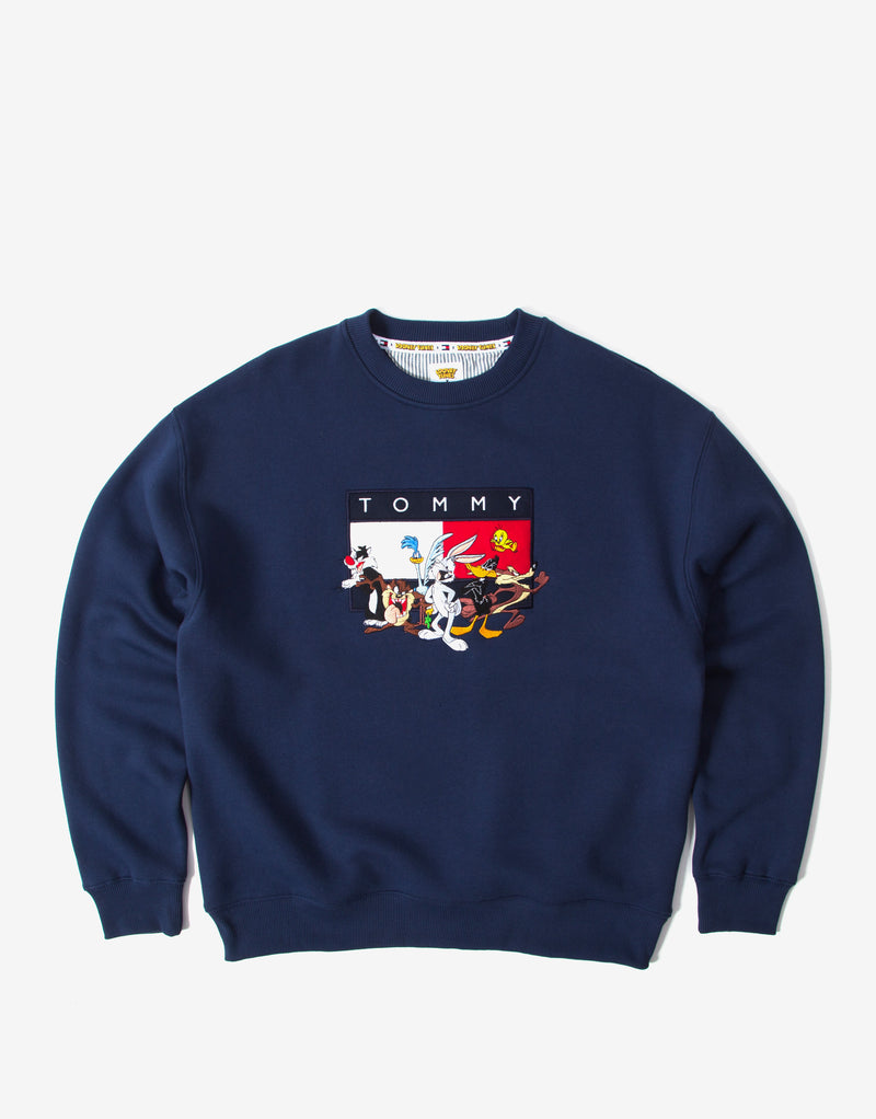 Tommy Jeans x Looney Tunes Embroidered Crewneck - Navy