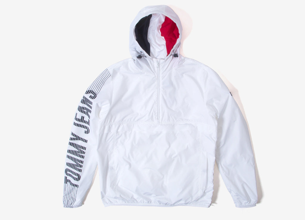 Tommy Jeans Graphic Pullover Jacket - Classic White