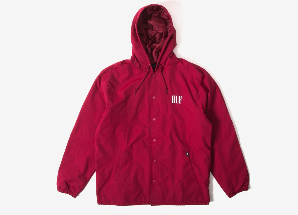 HUF Serif Quilted Coach Jacket - Terracotta