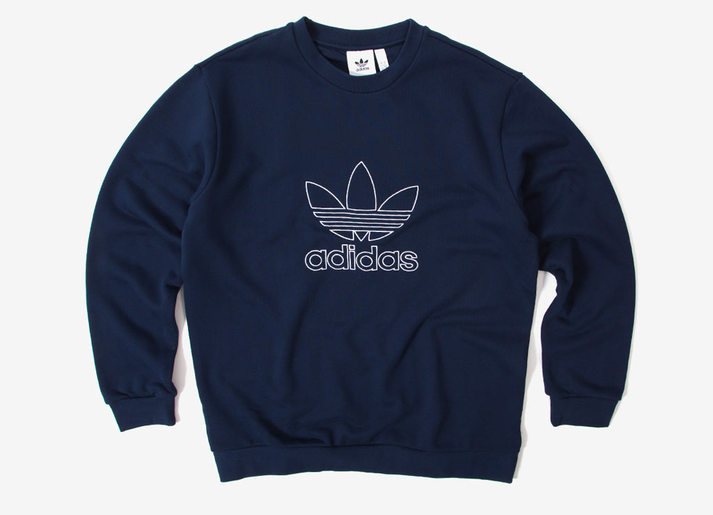 adidas Originals Outline Crewneck Sweatshirt - Collegiate Navy