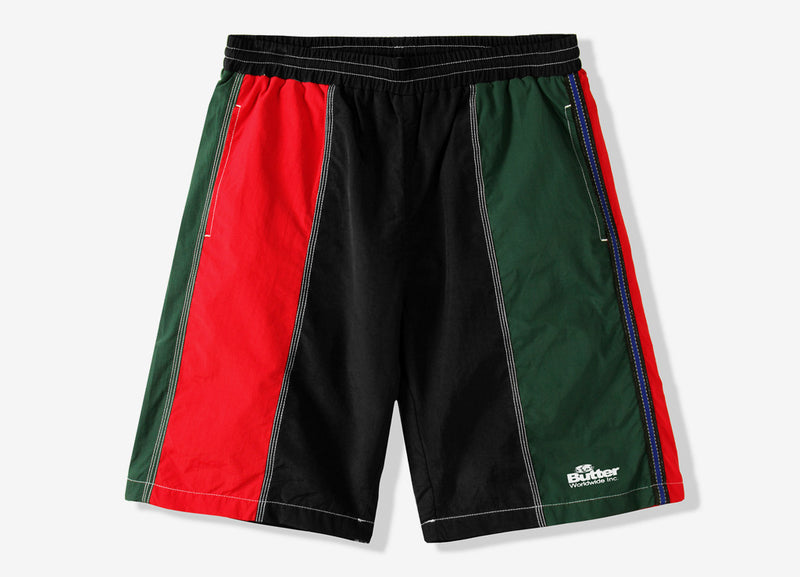 Butter Goods Panel Shorts - Red/Green/Black