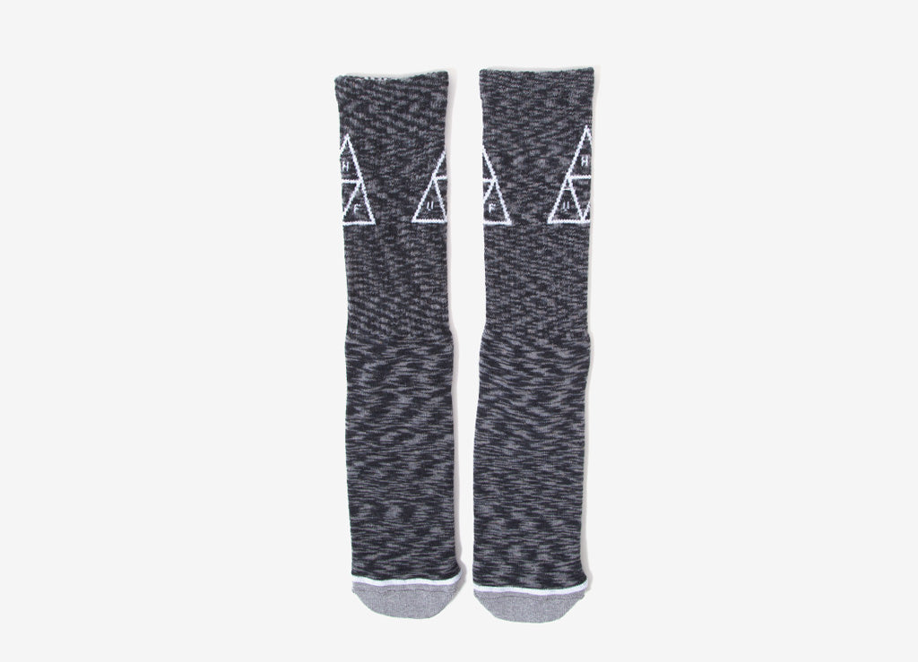HUF Melange Triple Triangle Socks - Black