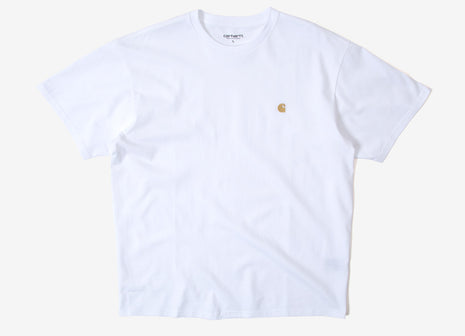 Carhartt Chase T Shirt - White/Gold
