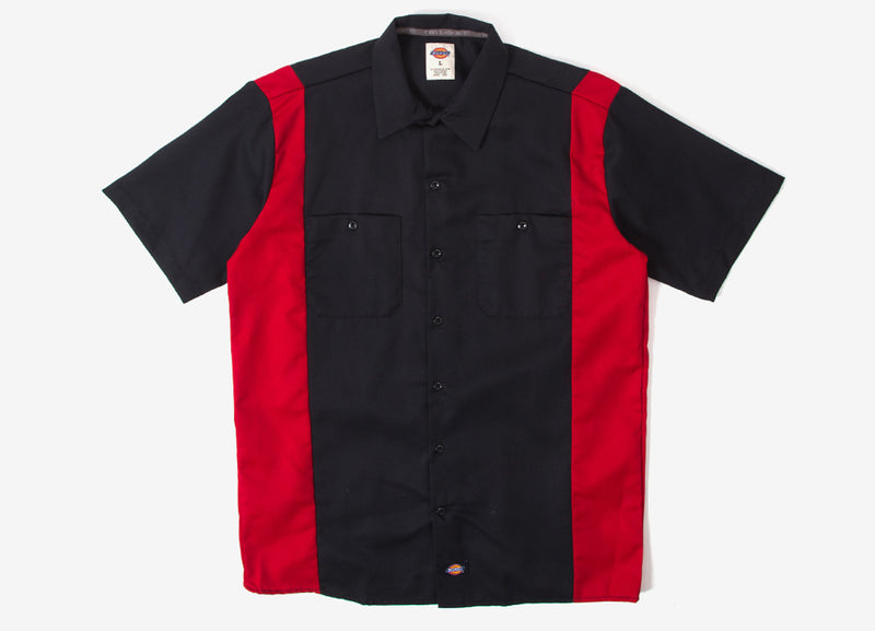 Dickies Two Tone Work Shirt - Black/English Red