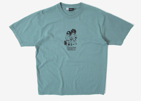 Obey Curious Kiddos T Shirt - Atlantic Green