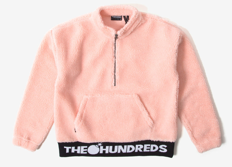 The Hundreds Nepal Half Zip Fleece Jacket - Salmon