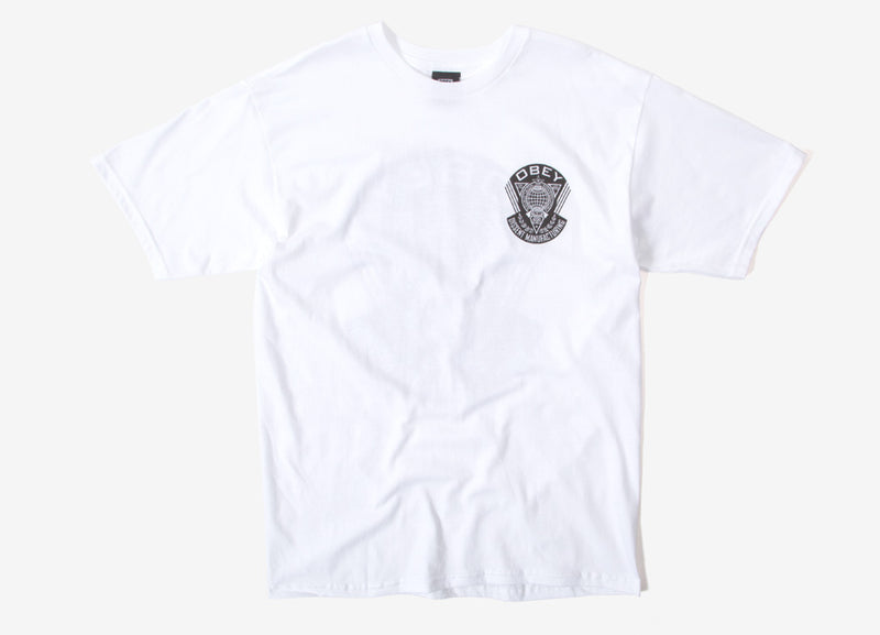 Obey World Prop Badge T Shirt - White