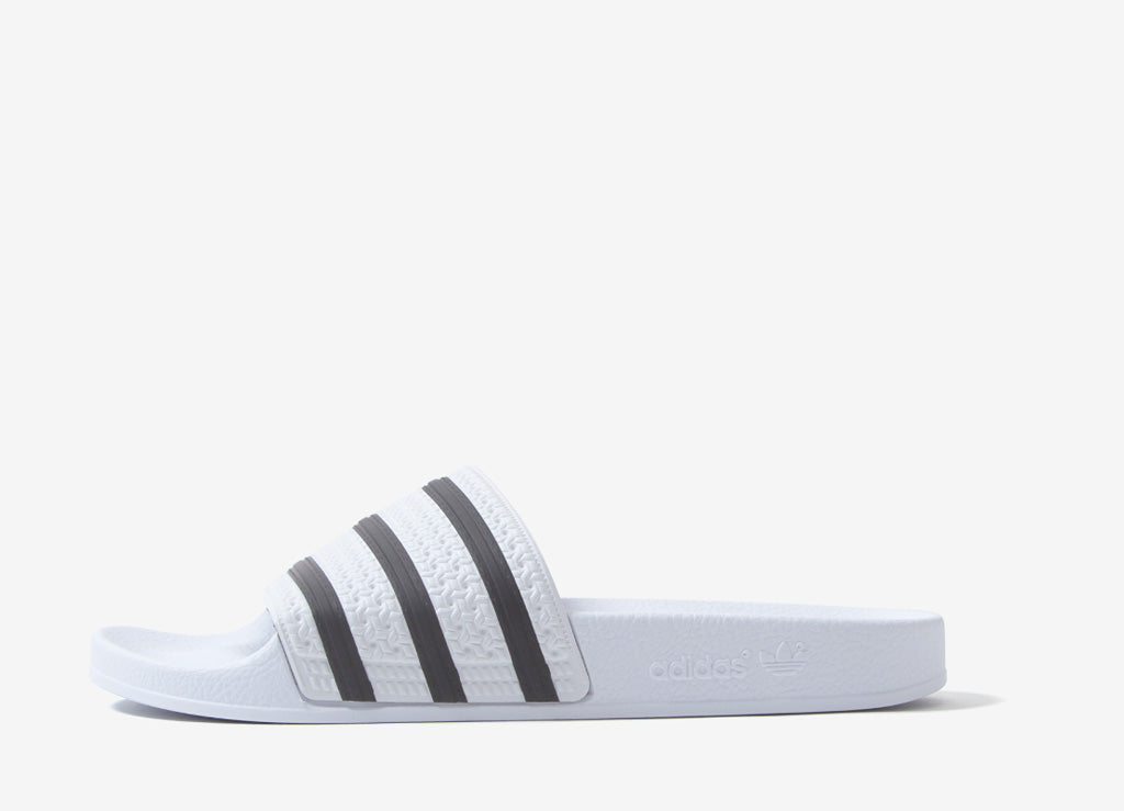 quality design ff796 aea59 adidas Originals Adilette Slides - White Black