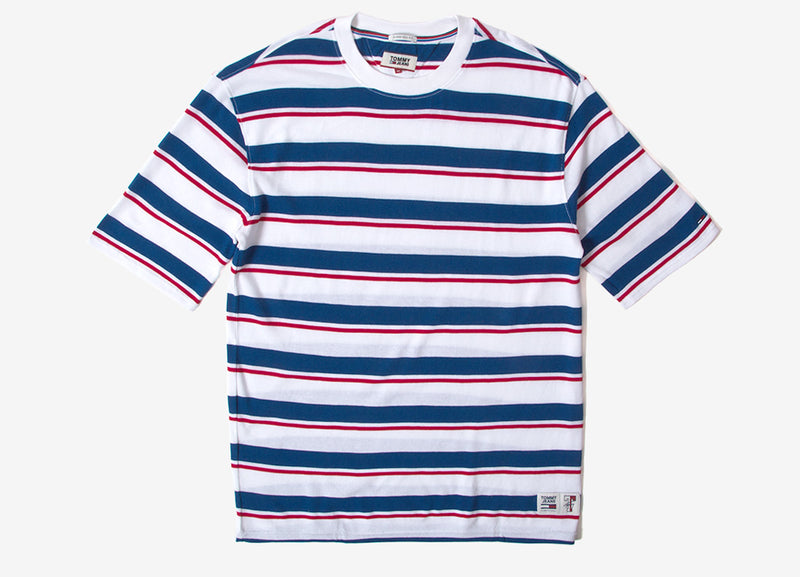 Tommy Jeans Oversize Multi Stripe T Shirt - Limoges/Multi