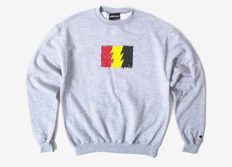 The Hundreds Slime Flag Crewneck Sweatshirt - Athletic Heather