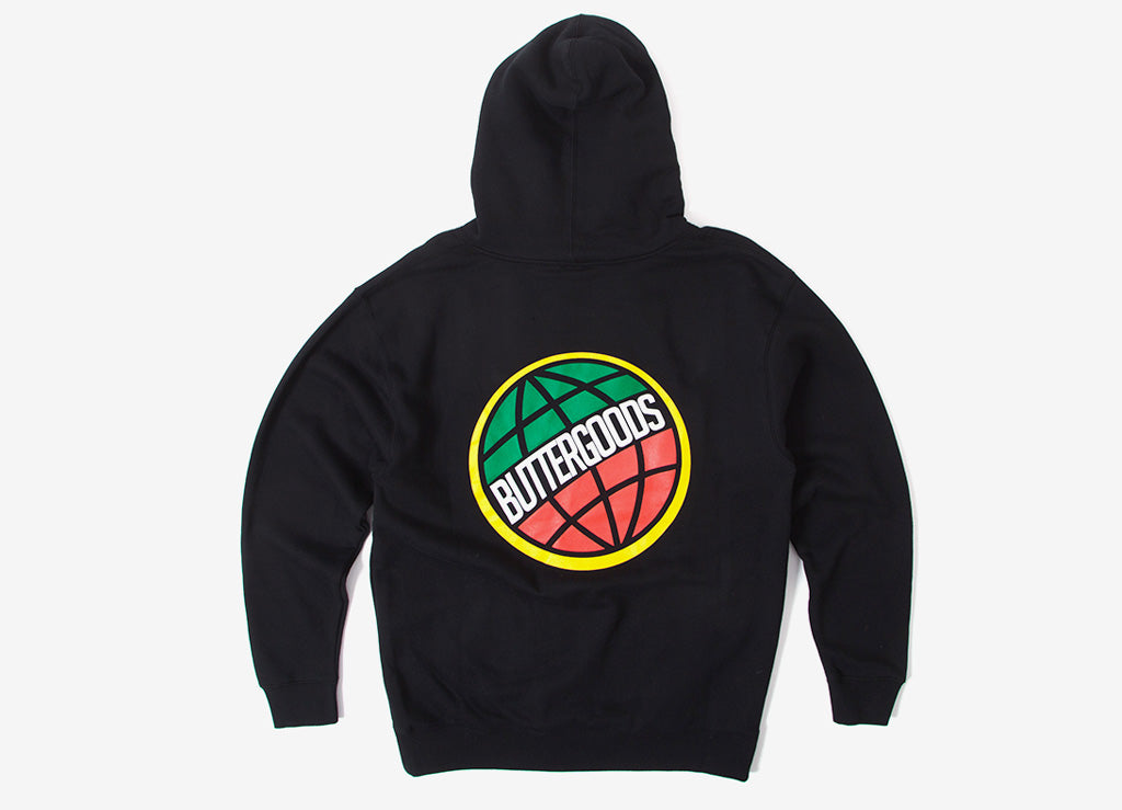 Butter Goods 3D Worldwide Logo Hoody - Black